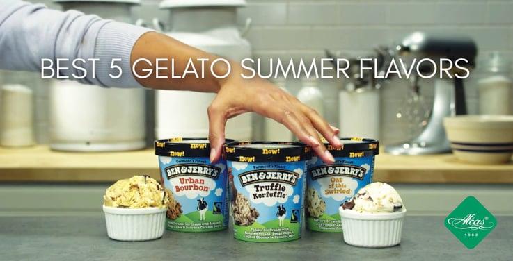 BEST 5 GELATO SUMMER FLAVORS