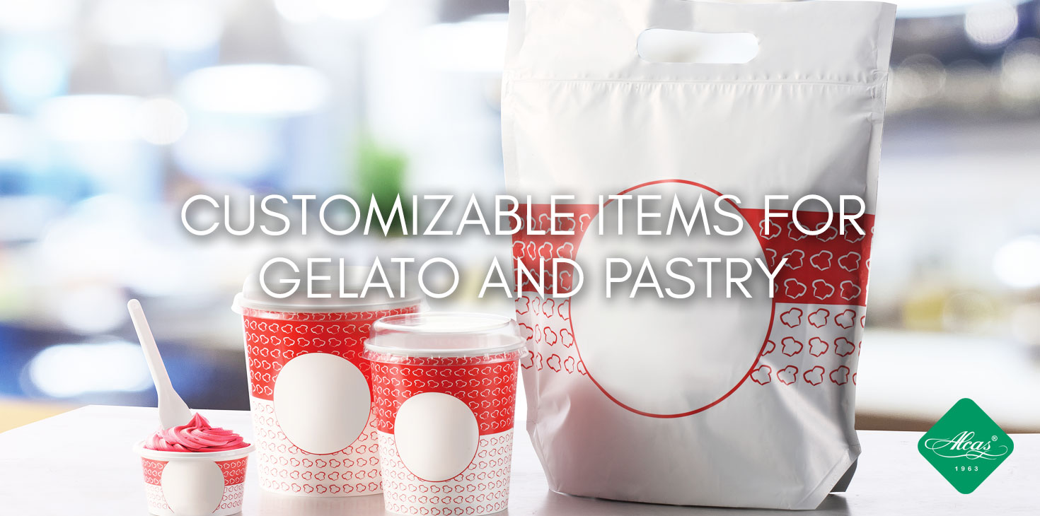 CUSTOMIZABLE ITEMS FOR GELATO AND PASTRY