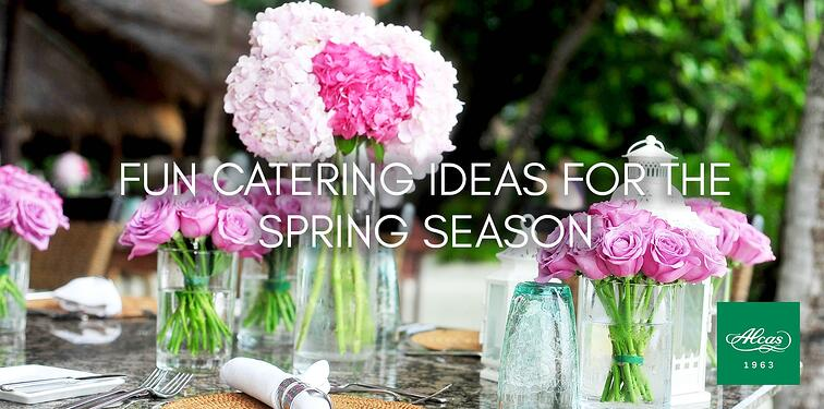 fun catering ideas for the spring season