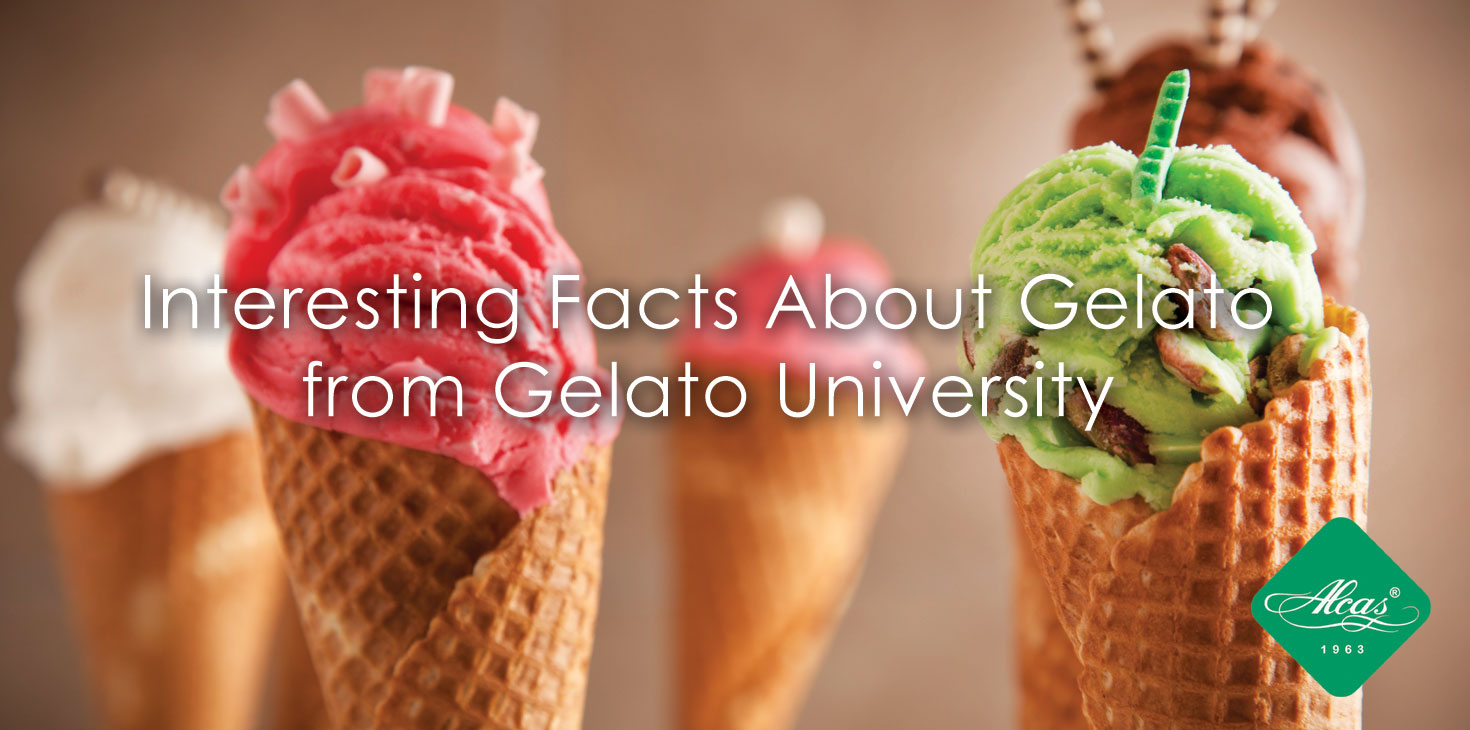 FACTS ABOUT GELATO FROM GELATO UNIVERSITY