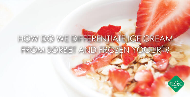 HOW DO WE DIFFERENTIATE ICE CREAM FROM SORBET AND FROZEN YOGURT