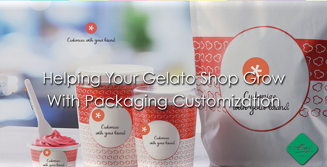 Helping Your Gelato Shop Grow  With Packaging Customization